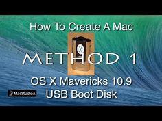 How To Create a Mac OS X Mavericks USB Boot Disk : Method 1 - YouTube