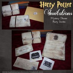 Harry Potter Mystery Dinner Party Invitations