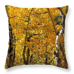 "Gold in Them Thar Hills 14"" x 14"" Throw Pillow by Deniece Platt.  Multiple sizes available."