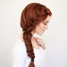 Braided hairstyle for long hair is a popular trend. it is said that, braided hairstyle is a perfect hairstyle for long hair. Today we have collected some top level of braided hairstyles for your favorite and lovely long hair. French Braid Hairstyles, Pretty Hairstyles, Wedding Hairstyles, French Braids, French Fishtail, Hairstyle Ideas, Easy Hairstyles, Hairstyles 2016, Heatless Hairstyles