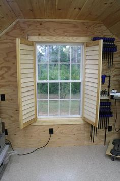 Building Moveable Wood Shutters Using Rockler's Shutter Building Sys.,Building Moveable Wood Shutters Using Rockler's Shutter Building System Wooden shutters can add a . Patio Blinds, Diy Blinds, Outdoor Blinds, Bamboo Blinds, Fabric Blinds, Curtains With Blinds, Privacy Blinds, Blinds Ideas, Bricolage