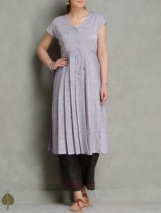 Buy Purple Pleated Cotton Kurta by Jaypore Women Kurtas Online at Jaypore.com