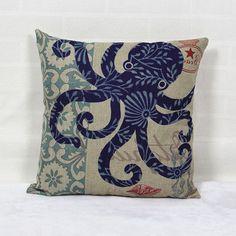 RubeyLiza Seaside Collection - Octopus - 100% Australian Alpaca Filled Cushions  www.storybookalpacas.com.au/shop