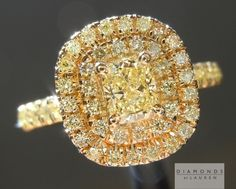 Double Diamond Halo Ring! Beautiful and it give one large amount of sweet yellow Sparkle.