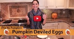 Pumpkin (Looking) Deviled Eggs