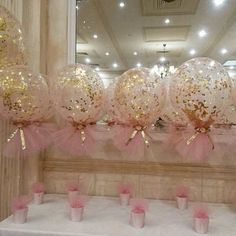 Pink and gold theme christening with our signature confetti and tulle balloons … – Baby Shower Ideas for Girls – Grandcrafter – DIY Christmas Ideas ♥ Homes Decoration Ideas Tulle Balloons, Baby Shower Balloons, Birthday Balloons, Baby Shower Parties, Baby Shower Themes, Shower Ideas, Glitter Balloons, Pink Glitter, Glitter Hair