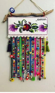 Home Crafts, Diy And Crafts, Arts And Crafts, Crochet Fabric, Etsy Handmade, Dream Catcher, Projects To Try, Canvas Art, Cross Stitch
