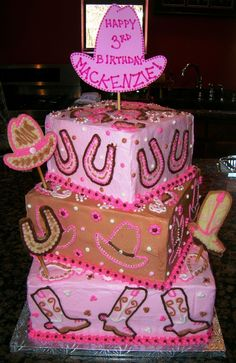 pink cowgirl cake - Google Search