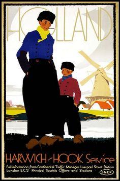 affiche de tourisme : Hollande, Shan Maree Hall Ballester