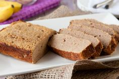 Grain-free banana bread with just 6 Net Carbs from Leanne @ Healthful Pursuit. Can't wait to try it.