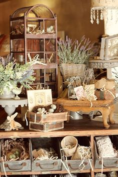 great display ideas . industrial drawers in a rustic cabinet . via whimsy decor