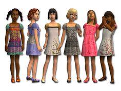 Mod The Sims - Tween-tastic Dresses