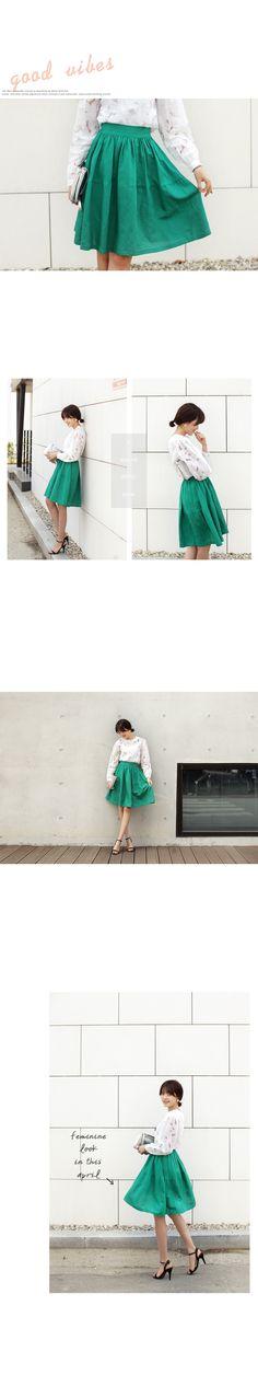 4colorリネン混紡ミディスカート・全4色スカートスカート レディースファッション通販 DHOLICディーホリック [ファストファッション 水着 ワンピース]