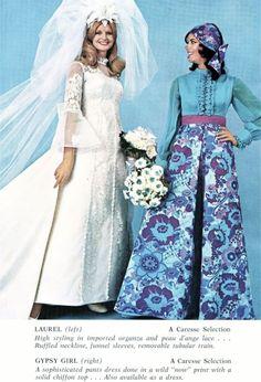 1970's fashion for brides