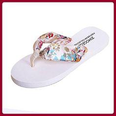 Damen Zehentrenner, Yogogo Sommer Sandalen Slipper Indoor Outdoor Flip-Flops Strand Schuhe (40, Schwarz)