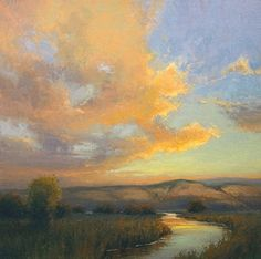 Day's End by Kim Casebeer Oil ~ 24 x 24