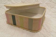 Vintage Box Koroseal B F Goodrich great storage box by rarefinds4u