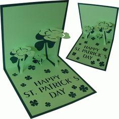 View Design: card pop up clovers
