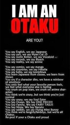 #anime #manga but I'm not all of these