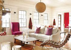 Lake Rabun home of designer Kay Douglas via Atlanta Homes and Lifestyles Magazine