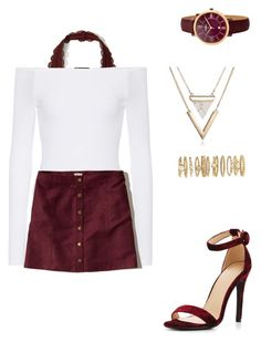 """""""Dressy"""" by idunntknow on Polyvore featuring ATM by Anthony Thomas Melillo, Hollister Co., FOSSIL and Forever 21"""