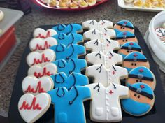 Medical Cookies, another way to use our standard heart & shirt cookie cutters,
