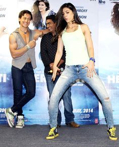 Tiger Shroff and Kriti Sanon get dancing while celebrating 'World Dance Day'. #Style #Bollywood #Fashion #Beauty