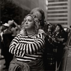 World Trade Series, New York (woman in striped shirt with husband), by Kevin Bubriski 2001 | by Photo Tractatus