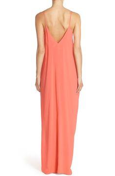 Elan V-back cover up maxi dress