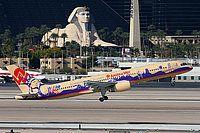 "America West Airlines, Boeing 757-2S7, Las Vegas - McCarran International, Nevada, November 14, 2006, N902AW, ""Coast to Coast"" special scheme, Karl Drage"
