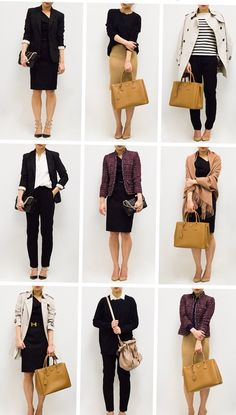 61 best Ideas for how to dress for work business casual capsule wardrobe Business Casual Outfits For Women, Stylish Work Outfits, Professional Outfits, Business Outfits, Office Outfits, Chic Outfits, Fashion Outfits, Look Office, Capsule Wardrobe Work