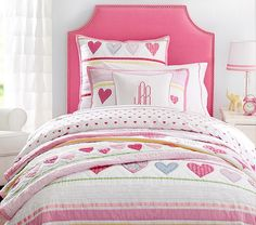 girls room filled with hearts