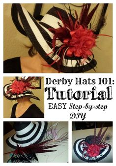 Derby Hats 101: Tutorial  An easy step-by-step tutorial for a fabulous hat for your Kentucky Derby Party! http://pinmethis.com