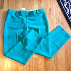 "Selling this ""LOFT New Marisa teal green straight leg pants NWT Sz 14"" in my Poshmark closet! My username is: divainjeans. #shopmycloset #poshmark #fashion #shopping #style #forsale #LOFT #Pants #marisa #newwithtags #teal #green #14"