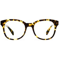Warby Parker Mallory Eyeglasses ($95) ❤ liked on Polyvore featuring accessories, eyewear, eyeglasses, glasses, sunglasses, gimlet tortoise, holiday glasses, warby parker eyewear, cocktail glasses and tortoise glasses