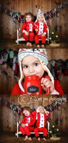 Christmas Mini Sessions, Santa pajamas, naughty and nice, Sweet Pea Photography By Liz. Norwalk, oH