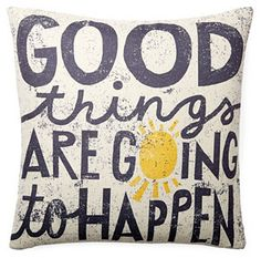 """""""Good Things"""" 20x20 Pillow, Multi on shopstyle.com"""