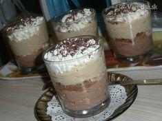 Čokoládový a kávový krém so šľahačkou (fotorecept) Tiramisu, Ham, Panna Cotta, Cheesecake, Food And Drink, Pudding, Sweets, Ethnic Recipes, Mascarpone