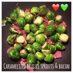 Di's Food Diary 21 Day Fix Approved Recipes = Caramelized Brussel Sprouts & Bacon