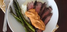 PaleOMG – Paleo Recipes – Simple Skirt Steak with Romesco Sauce