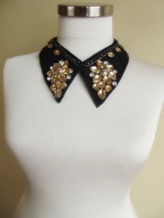 detachable peter pan collar necklace beads bridal by trendycollars, $21.90