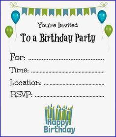 Nice Create Easy Free Printable Birthday Invites Online Invitations Party
