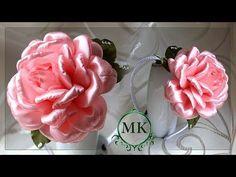 Пышная роза. Канзаши. МК. / DIY. Rose. Kanzashi. Flowers. - YouTube