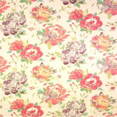 This is a pink, purple and yellow linen blend floral drapery fabric, suitable for any decor. Perfect for pillows, drapes and bedding.v164TEF