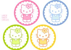 FREE HELLO KITTY LARGE PARTY CIRCLES