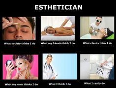 Lol! #esthetician #truth seriously been doing laundry all week