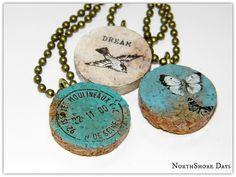 Cork Pendant Necklaces