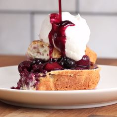 Peach Cherry Blueberry Shortcake #diy_kitchen_table
