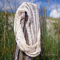 Summer Infinity Scarf - free crochet pattern by Lorin Jean. 4ply yarn.
