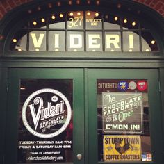 """Videri Chocolate Factory // Raleigh, NC.  Not a restaurant but they have house made ice cream and chocolate.  You can also take a """"tour"""" of where the chocolate is made."""
